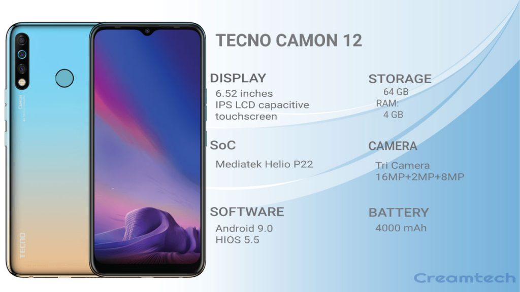 ALL YOU NEED TO KNOW ABOUT TECNO CAMON 12 SERIES 1