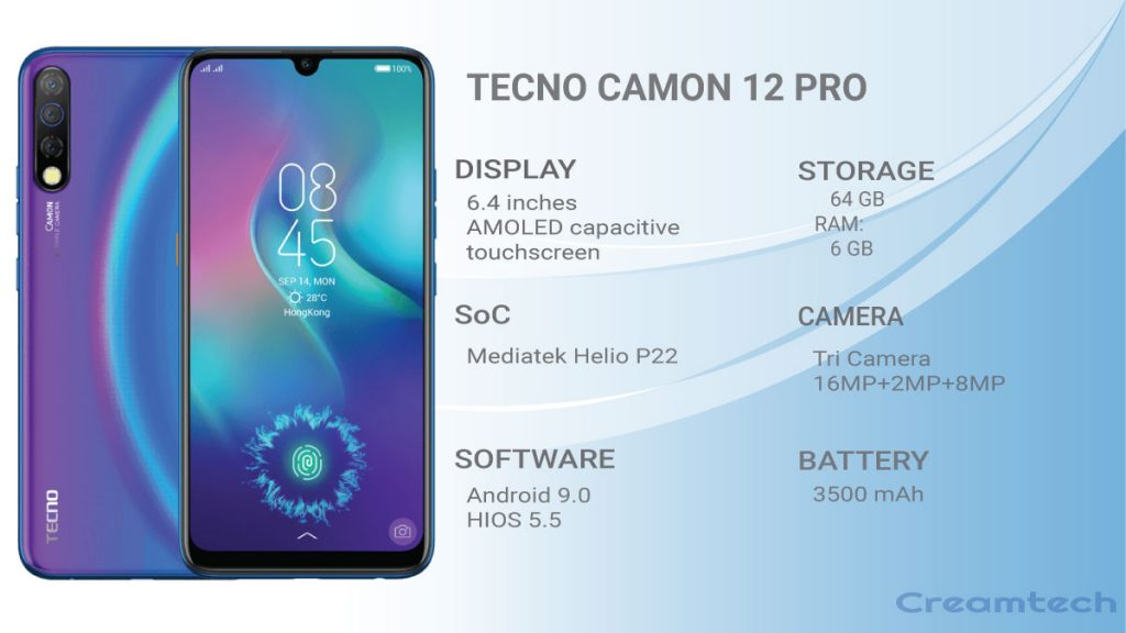 camon 12 pro specifications